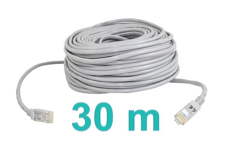 kabel sieciowy lan 30m kategorie multimedia kable. Black Bedroom Furniture Sets. Home Design Ideas