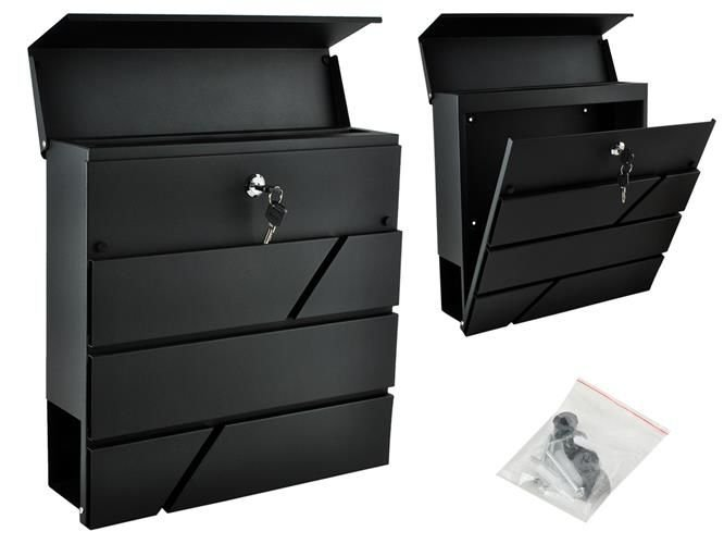 cabinet organizers letterbox anthracite 2 security flap easy assembly 12986