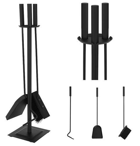 8786 Fireplace Tools Set Wrought Iron Fire Place Pit Tool Sets
