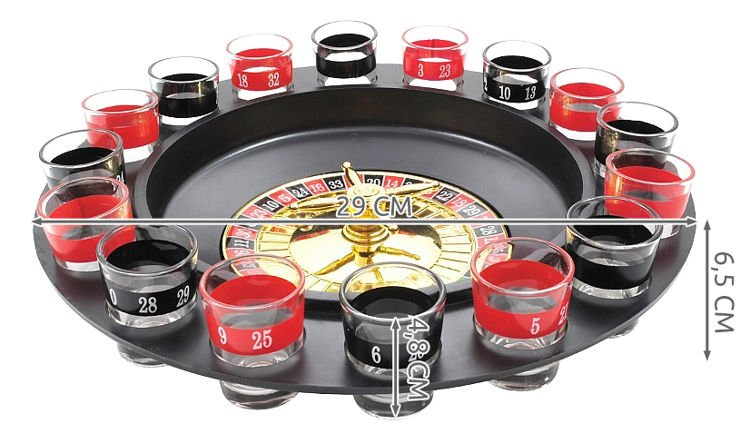 Alcohol roulette device to cheat at roulette