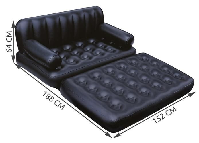 Bestway Air Mattress Travel Bed Camping Sofa 5in1 Airbed