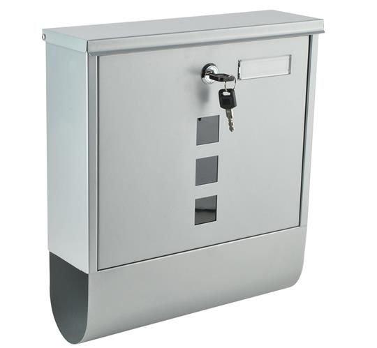 Plastic Letter Box Assembly Brass Face Plate 10x3 # zhh-99090