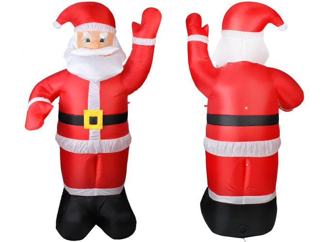 ce0db2bb6c7fb ... Santa Claus Inflatable LED lights 180 cm inside outside Christmas  Decoration   4781 ...