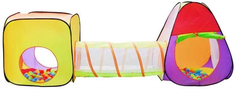 Tent Igloo With Tunnel And 200 Balls For Kids Children Play 2880