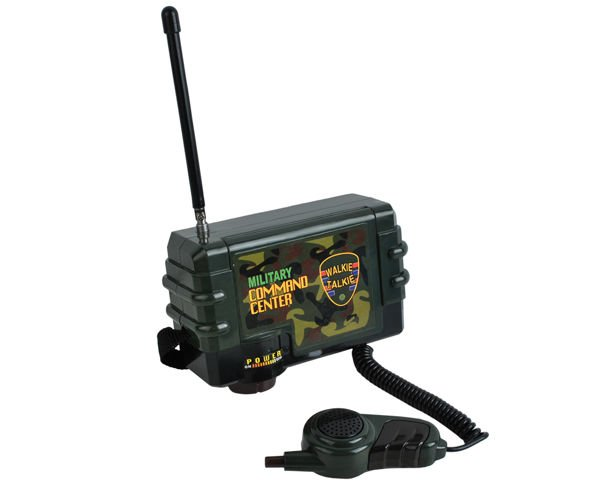 Walkie Talkie Radio Central Unit with Mic + 2 Handheld Radio