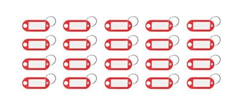 Key Tags 100 Pieces Colorful Writable Metal Ring Pendant Weatherproof 7942
