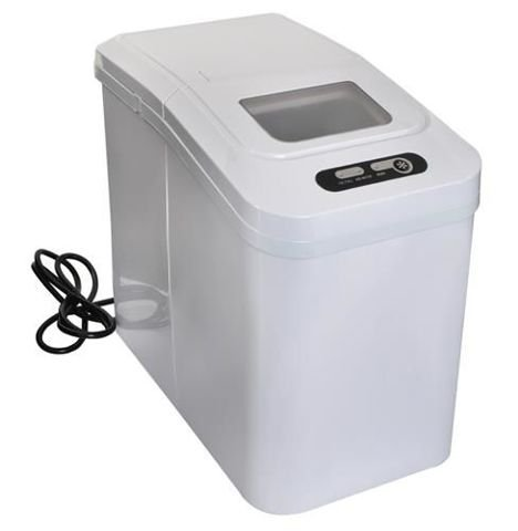 Ice Maker Counter Top Ice Machine Compact and Portable Includes Scoop and Removable Basket 5538