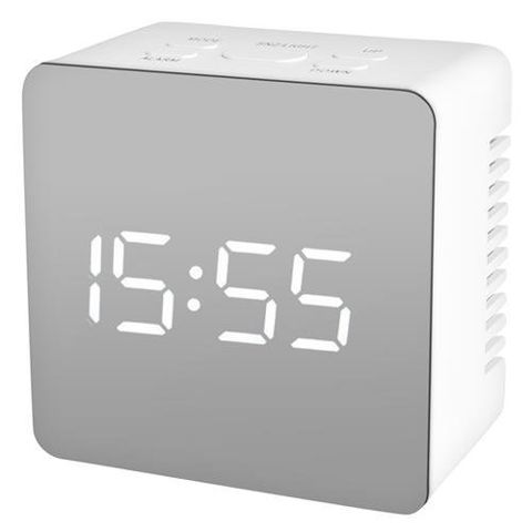 Alarm clock. Clock. Watch with alarm. Thermometer. Mirror 10112