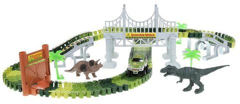 Autópálya dinoszauruszok Park Dinosaur 153 el XL 9417