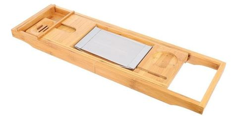 Bamboo Bath Shelf Adjustable Overlay Eco 9710