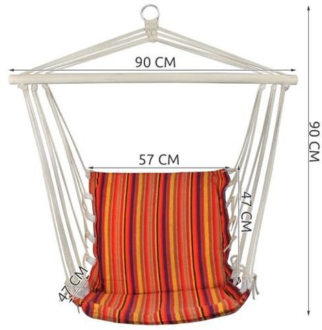 Brazilian Garden Hammock Hanging Swinging Chair Armchair Seat for Terrace Balcony Camping Portable With a Single Fastening Ring 1716