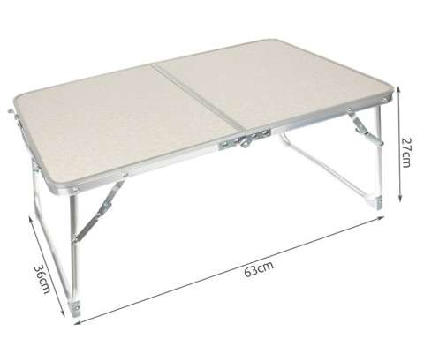 Camping table, folding table, multifunctional table with handle, travel case 12175