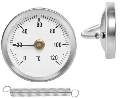 Clip on tube thermometer hot water thermometer bimetal temperature gauge and spring 8122