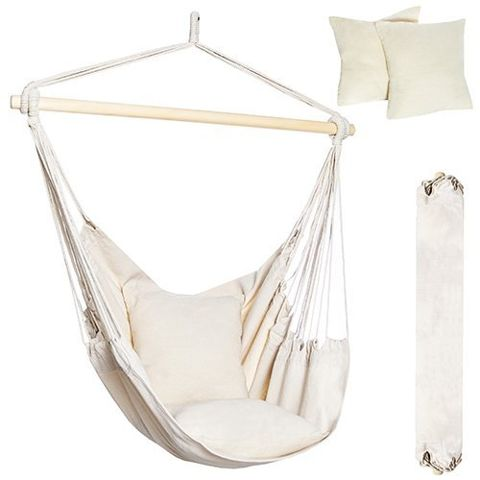 Hammock hanging chair load 150 kg hanging chair 2 cushions 10144