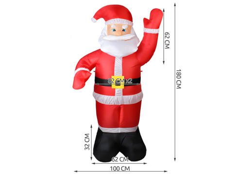 Santa Claus Inflatable LED lights 180 cm inside outside Christmas Decoration # 4781