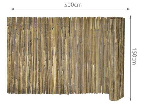 Screen mat made of bamboo 1.5x5 m Bamboo mat wind protection fence for garden balcony terrace 12120