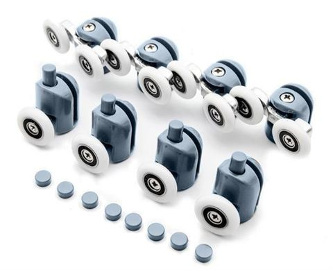 Set of 8 Rollers for the Shower Roller Wheels 9646