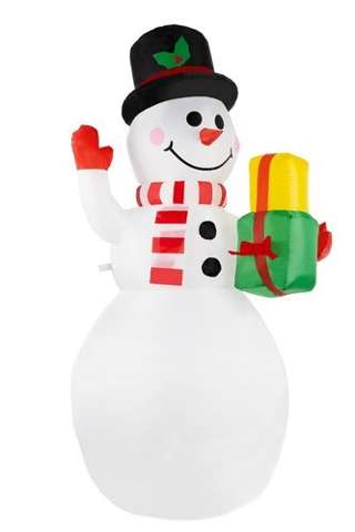 Snowman inflatable LED illuminated 155 cm outside Christmas decoration 11428