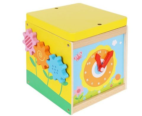 Sorter Wooden Educational Cubes with a 5in1 Clock 9368