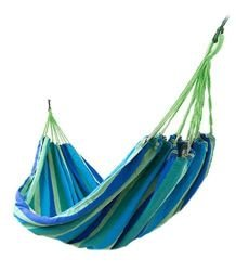 Garden Hammock with Wooden Spreader Bars Portable Compact Single Hammock with Travel Bag Perfect for  Outdoors 160 x 195 cm 1127