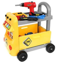 Trolley + Tools Workshop for Children XL 9424 Screwdriver