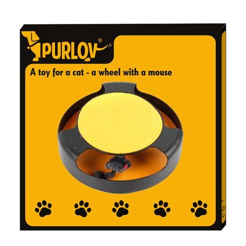 Katzenspielzeug Fang Die Maus Kunststoff Plüsch Kratzteller