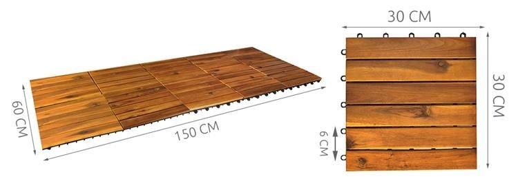 10er set holzfliesen terrassenfliesen 30x30cm balkon klickfliesen boden 5100 kategorien - Balkon klickfliesen ...
