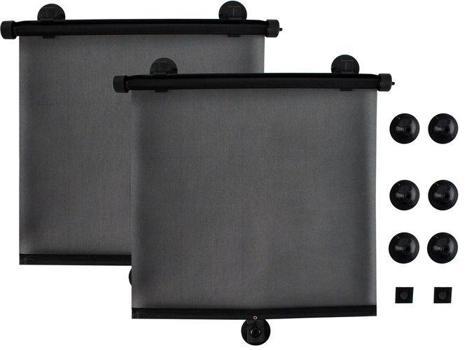 2x auto sonnenschutz rollo kinder seitenschutz sonnenblende schwarz uni 714 kategorien. Black Bedroom Furniture Sets. Home Design Ideas