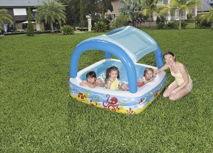 Bestway Aufblasbarer Pool für Kinder mit Sonnendach für Garten ...