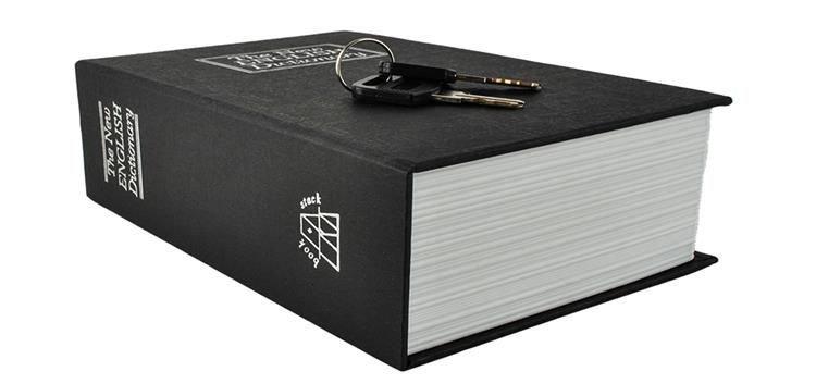 Buch Safe 18x11 5cm Kassette 2 Schlussel Versteck Geld