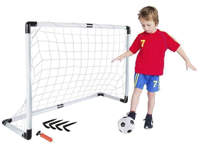 Fussballtor Set 116x79cm Gross Ball Handpumpe Leicht Starkes