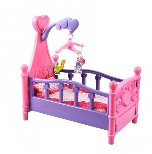 Großes Puppenbett mit Kissen Decke Karussell 3in1 Bunt Babys ...