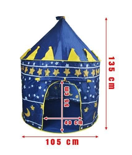 Kinderzelt Spielzelt Spielhaus Blau Schloss Zelt Kinder Neu 1163