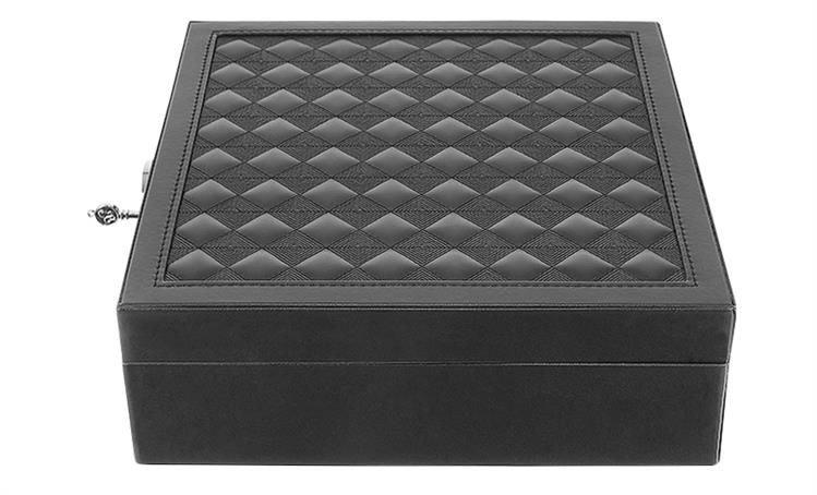 Tragbare Uhren Box Aufbewahrungs Tasche Pu Leder Sarg Reißverschluss Klassi H4W1