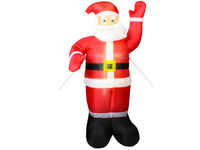 Weihnachtsdeko Beleuchtet.Weihnachtsmann Aufblasbar Led Beleuchtet 180 Cm Innen Außen