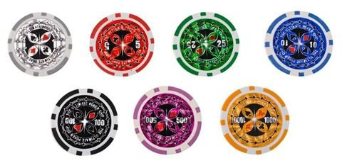 Texas Strong Poker Set mit 500 Token + Koffer 9538