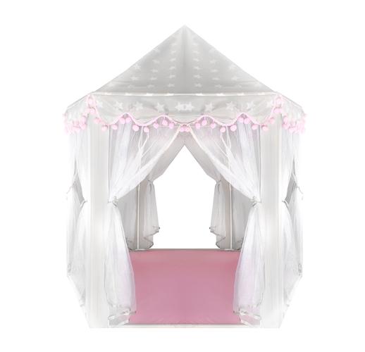 Namiot dla dzieci szaro różowy Kruzzel | maxy.pl