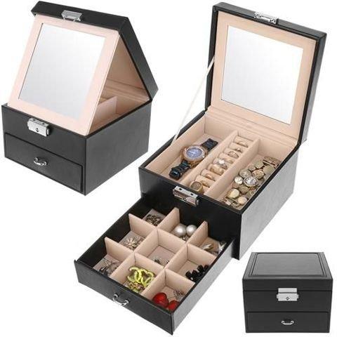 Kuferek na biżuterię - czarny K8898 Beautylushh