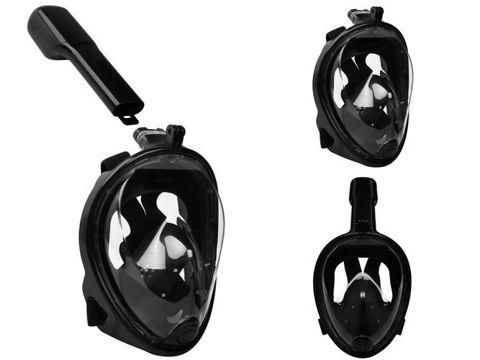 Maska do snorkowania pełnotwarzowa  L/XL czarna